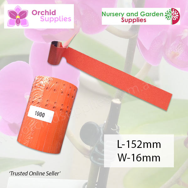 Vinyl Loop lock Tag Orchid Label - Orchid Growing Supplies - For more information go to Orchidsupplies.com.au